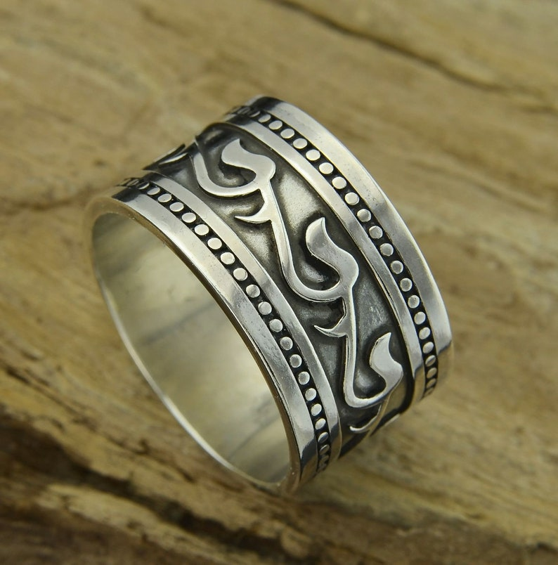 ISKRA Slavic Ring Silver Early Medieval Jewel Floral Motif Slav Viking  Rings Vikings Middle Ages historic historical lost wax casting Ag 925