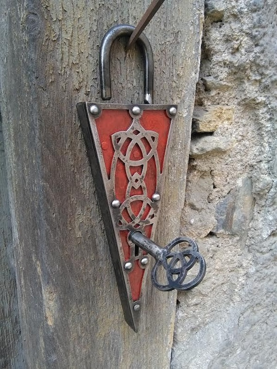 Citadella Luxury Forged Door Lock For Medieval Chest Etsy