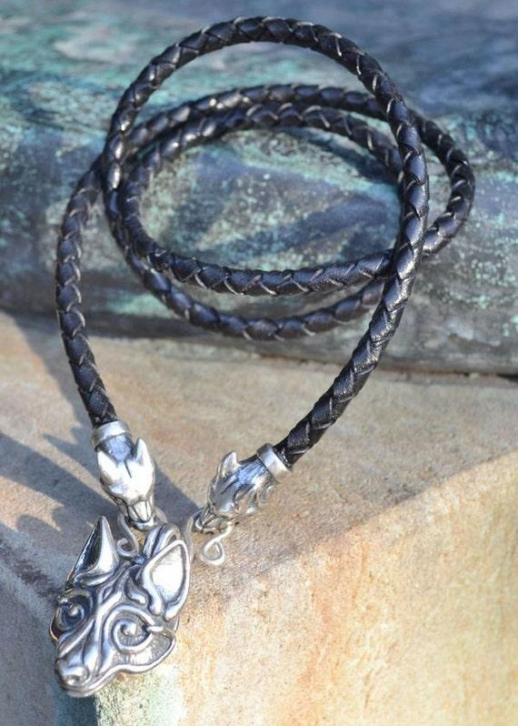 FENRIR Viking Sterling Silver WOLF Pendant Icelandic wolf  c9999698e