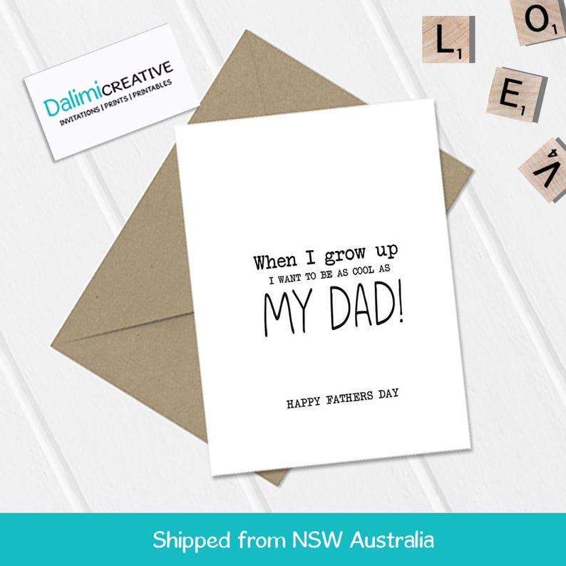 Cool Dad Father's Day Card  Cute Father's Day Card  image 0