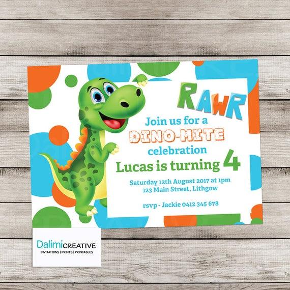 Dinosaur Invitation RAWR Dinosaur Party Invitation 4th