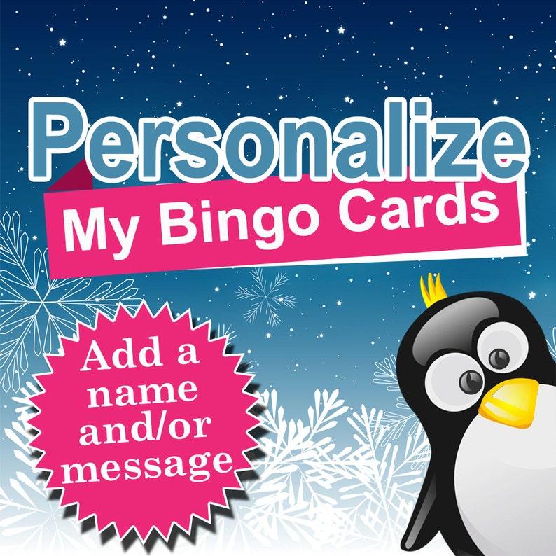 Personalize My Bingo Cards image 0