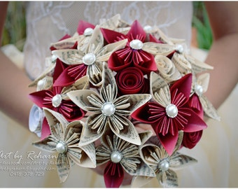 Custom Made Paper Flower Bridal Bouquets for Unique Weddings!