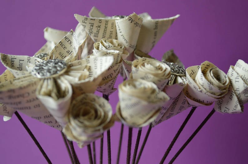 Harry Potter Book Page Paper Flowers A Great Gift for Christmas /& Anniversaries
