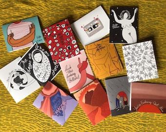 5 pack of assorted cards
