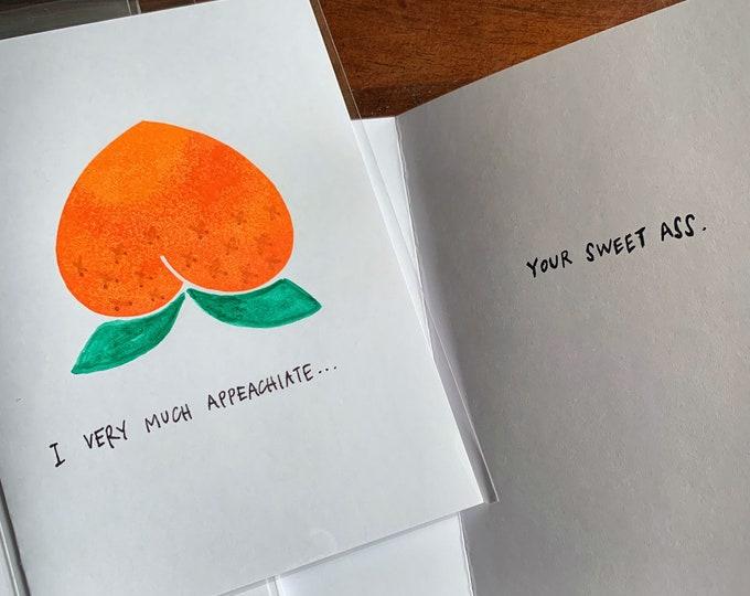 Ap-peach-iation card 1