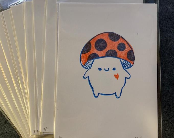Limited Edition February Mushroom Print