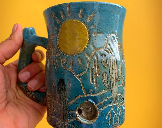 Sonoran Desert Nug Mug - Turquoise