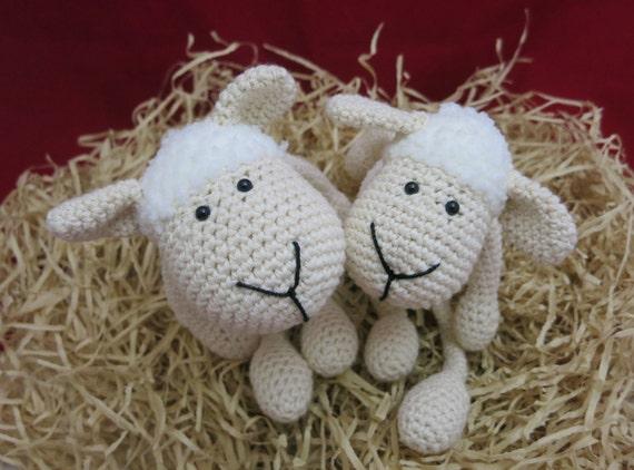 Weiße Schafe häkeln Plüsch Schaf Spielzeug Baby Shower Tier | Etsy