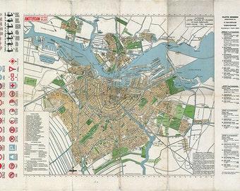Antique Iceland map print map vintage old maps Antique map