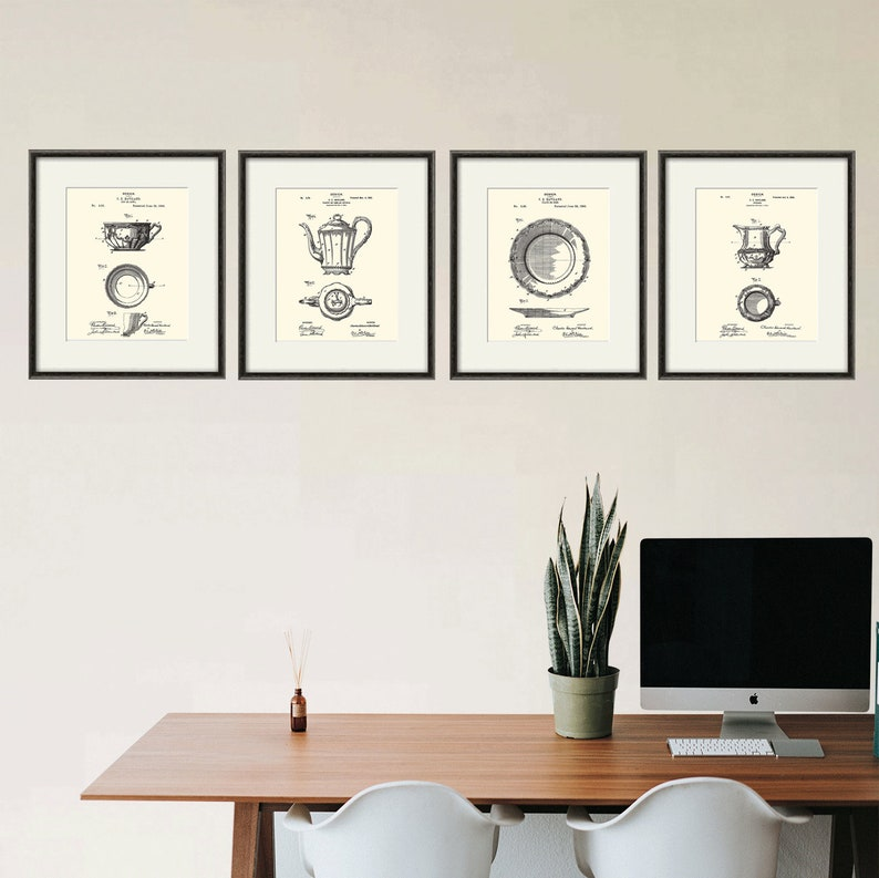 Tea Art Print Patent Dining Room