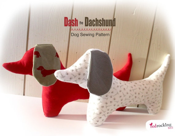 Dachshund Dog Sewing PATTERN sausage dog