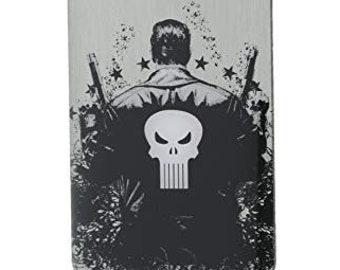 Dog Tag Marvel Comics Punisher Vigilante Dog Tag Men's Silver Pendant Necklace vintage jewelry