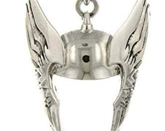 Necklace Thor Silver Tone Cut Out Helmet Superhero Pendant Necklace vintage jewelry