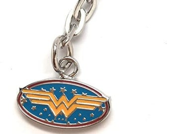 Wonder Woman Key Ring with Key Chain DC Comics Fun Gifts for Him Gifts for Her