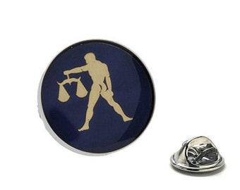 Libra Zodiac Enamel Pin Astrology Gifts, Blue Lapel Pin