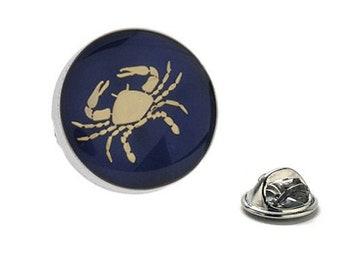 Cancer Zodiac Enamel Pin Astrology Gifts, Blue Lapel Pin