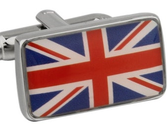 British Flag Cufflinks UK Union Jack London Cuff Links