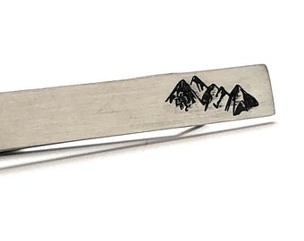 Mountain Climbing Tie Bar Tie Clip Hiking Backpacking Outdoors Snowboarding Camping Gift Nature Rock Skiing Very Cool Comes Gift Box