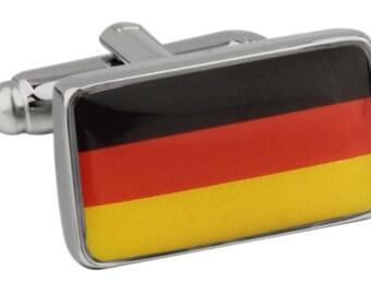 German Flag Germany Cufflinks Cuff Links