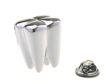 Dr. of Dentistry Lapel Pin Dentist Silver Tooth Doctor Enamel Pin