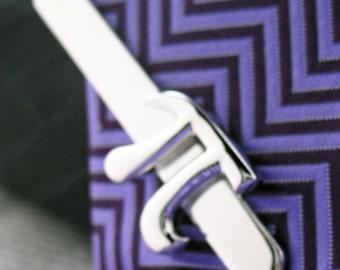Tie Clip Pi Symbol Tie Clip 3.14  Shiny Silver Tone Tie Bar Dress up for Success Tie Clasp Comes with Gift Box
