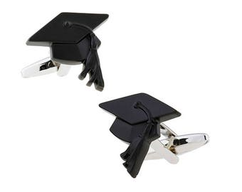 Graduation Cape Cufflinks Diploma Degree Success Fun Cool Cuff Links Comes with Gift Box