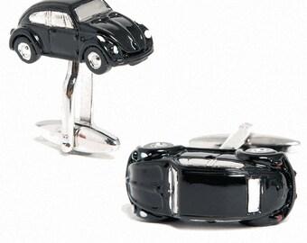 Black Iconic Cufflinks Bug Car Cufflinks Cuff Links Mechanic Dealer Dealership Cuff Links Husband Gifts for Him Gifts for Boyfriend Gifts