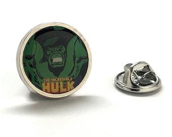 Enamel Pin Hulk Face Green Lapel Pin Super Hero Tie Tack Incredible Hulk Husband Gifts for Dad Gifts for Him