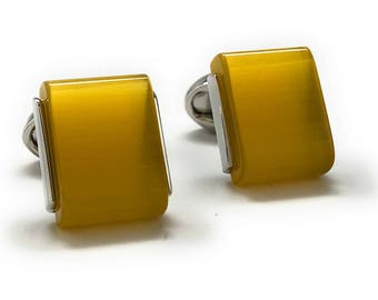 Amber Creek Slip Stone Polished Wedge Cufflinks Cuff Links Whale Tail Backing Comes with Box