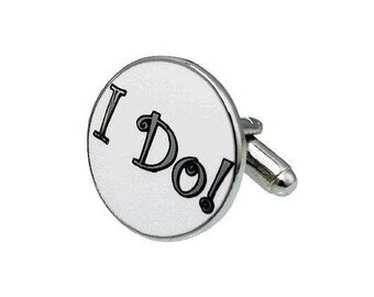Cufflinks Husband I Do Cufflinks Wedding Marriage Vows Forever Cuff Links Groom Father of the Bride Wedding Marriage Anniversary Gift Box