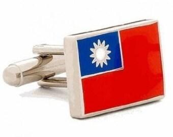Taiwan Flag Cufflinks Cuff Links