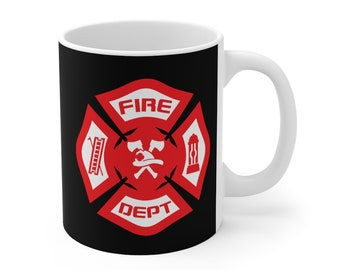 Fire Department Coffee Mug 11oz Firefighter Coffee Cup Ceramic Mug