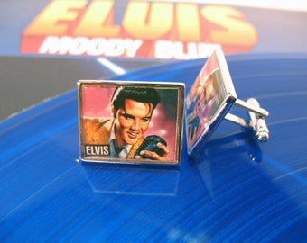Rock and Roll Cufflinks The King of Rock Show off your Love of Music Cuff Links Cultural Icons of the 20th Century Comes with a Gift Box