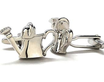 Water Bucket Silver Cufflinks Shinny Silver Finish Fun Party Cool Boss Cuff Links Comes with Gift Box