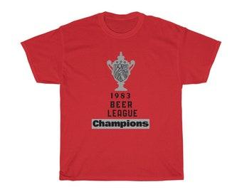 Hockey T-Shirt Beer League Champions Tee Shirt Unisex Heavy Cotton Tee Hockey Team T Shirt