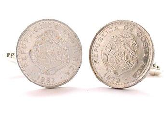 Birth Year Birth Year Costa Rica Coin Cufflinks Cuff Links San Jose Costa Rican Central America Coin Jewelry