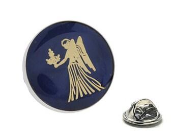 Virgo Zodiac Enamel Pin Astrology Gifts, Blue Lapel Pin
