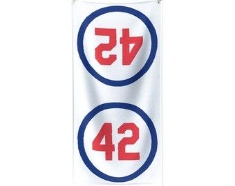 Polycotton Towel Number Forty Two Honoring Baseball's Barrier Breaker baseball gift Boyfriend Gift Gift for dad Gift for Boss