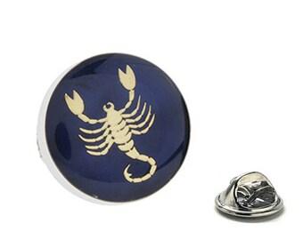 Scorpio Zodiac Enamel Pin Astrology Gifts, Blue Lapel Pin