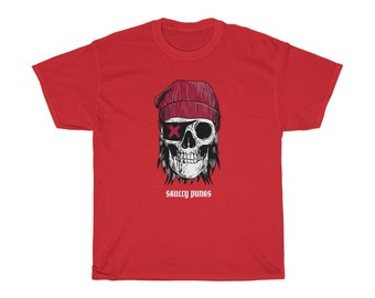 Pirate Tee Shirt Unisex Heavy Cotton Tee Skulls Eye Patch T Shirt Skull Pirate Shirt