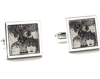 Cyber Monday Sale The Beatles Revolver Album Cover Cufflinks Rock Band Fab Four Cuff Links John Paul George and Ringo