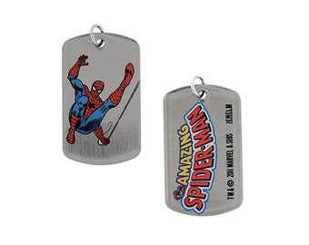 Dog Tag Marvel Comics Spiderman Spinning Web Dogtags Double Sided Dog Tag vintage jewelry