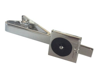 DJ Turntable Tie Clip Silver Tone Very Cool Comes with Gift Box