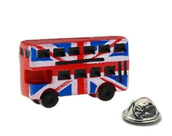 London Double Decker Bus Enamel Pin, Lapel Pin