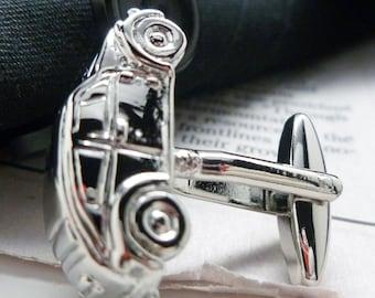 Fun Car Cufflinks Mirror Finish Classic Car Collection Bug Cuff Links