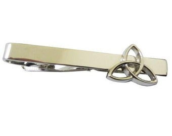 Triquetra Trinity Triangle Holy Tie Clip Tie Bar Silver Tone Very Cool Comes with Gift Box