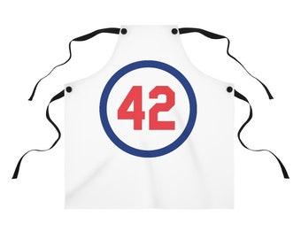 Kitchen Apron Number Forty Two Honoring Baseball's Barrier Breaker baseball gift Boyfriend Gift Gift for dad Gift for Boss