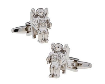 Jet pack Space Walker Rocket Man Cufflinks Gravity Deifying Astronaut Cosmonaut Space Traveler Super Cool Fun Cuff Links