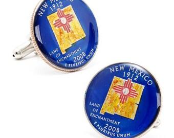 Enamel Cufflinks South Carolina State Quarter Enamel Coin Jewelry Money Currency Finance Cuff Links Designer Jewelry Handmade Boyfriend Gift